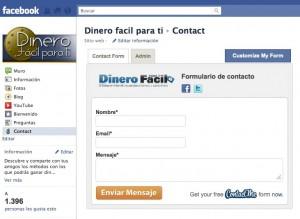 Cómo añadir un formulario de contacto a una página de Facebook?