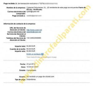 Comprobantes de pago de Clickxti y Sumafan – siguen siendo fiables