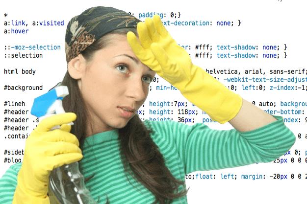 limpiar codigo CSS