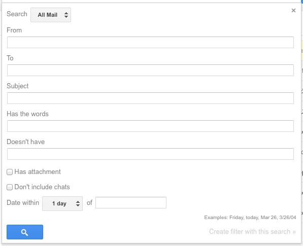 filtro avanzado gmail