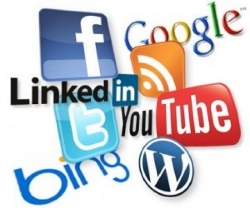 iconos redes sociales en blog